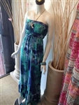Tie-Dye Long Dress Blue