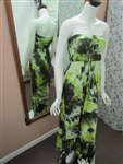 Tie-Dye Long Dress Green