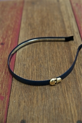 Skull Headband Navy Blue