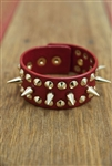 Wrap Spike Bracelet Red