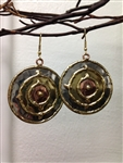 Round Mixed Metal Earrings