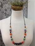 Colorful Mixed Beads Necklace by Montini