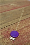 Dragonfly Necklace Purple
