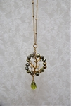 Bead Tree Necklace Green