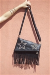 Star Fringe Bag Black