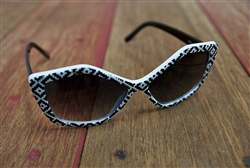 Tribal Sunglasses Black and White