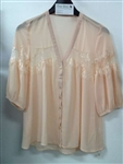 Romantic Chiffon Top Peach