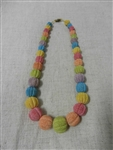 Vintage Rainbow Sponge Coral Necklace