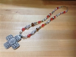 Vintage Beaded Cross Necklace