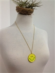 Vintage Smiley Face Necklace