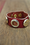 Wrap Stud Band Watch Red