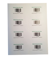 Bar code adhesive card - upload inspection X 8