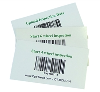 Opti-Tread bar code magnetic cards, set of 3
