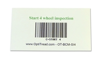 Bar code magnetic card - start inspection (4-tire)