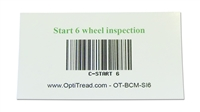 Bar code magnetic card - start inspection (6-tire)