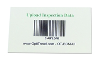 Bar code magnetic card - upload inspection data