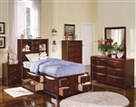 Manhattan Storage Bookcase Bed Youth Bedroom Set in Espresso Finish by Acme - 04090