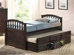 San Marino Captain Bed in Dark Walnut Finish by Acme - 04990