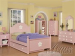 Floresville 4 Piece Bedroom Set in Pink Finish by Acme - 0735T