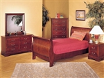 Louis Philippe II 4 Piece Youth Bedroom Set in Cherry Finish by Acme - 09790T