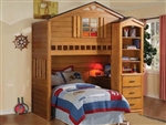 Montana Loft Bed in Rustic Oak Finish by Acme - 10160
