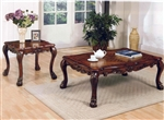 Dresden Occasional Tables in Cherry Finish by Acme - 12165