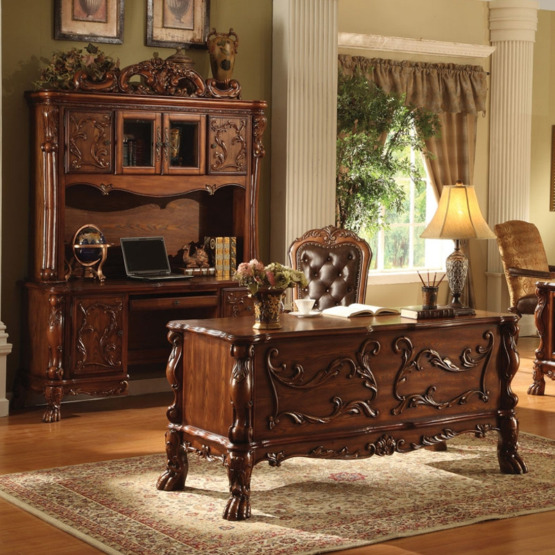 Dresden 3 Piece Home Office Set In Cherry Finish By Acme