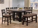 Harrison 5 Piece Counter Height Dining Set in Espresso Finish by Acme - 14310