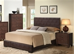 Madison Brown Upholstered Bed by Acme - 14370Q