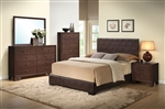 Madison Brown Upholstered Bed Youth Bedroom Set in Espresso Finish by Acme - 14375