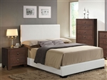 Madison White Upholstered Bed by Acme - 14390Q