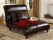 Kimberlee Espresso Leather Chaise w/ 3 Pillows by Acme - 15018