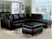 Milano Espresso Bonded Leather Right Facing Chaise Sectional by Acme - 15203