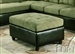 Milano Pebble Easy Rider / Espresso Bycast Ottoman by Acme - 15207