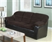 Connell Chocolate Corduroy & Espresso Bycast Sofa Sleeper by Acme - 15978