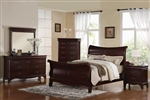 Verona 6 Piece Bedroom Set in Dark Cherry Finish by Acme - 20210