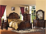 Remington 6 Piece Bedroom Set in Brown Cherry Finish by Acme - 20270