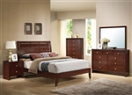 Ilana Platform Bed in Brown Cherry Finish by Acme - 20400Q