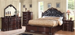Veradisia 6 Piece Storage Bed Bedroom Set in Dark Cherry Finish by Acme - 20630