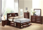 Ireland Storage Bookcase Bed Youth Bedroom Set in Espresso Finish by Acme - 21590