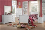 Louis Philippe III 4 Piece Youth Bedroom Set in White Finish by Acme - 24515T
