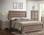 Lyndon Bed in Weathered Gray Grain Finish by Acme - 26020Q