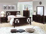 6 Piece Joplin Bedroom Set in Espresso Finish by Acme - 4210Q