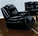 Moreno Black Leather Power Motion Recliner by Acme - 50097