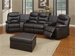 Spokane 5 Piece Home Theater Seating in Black Leather by Acme - 50110