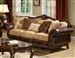 Remington Sofa in Brown Cherry Finish by Acme - 50155