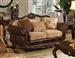 Remington Loveseat in Brown Cherry Finish by Acme - 50156