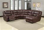 Zanthe Brown Polished Microfiber 7 Piece Reclining Sectional by Acme - 50300