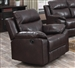 Dyson Burgundy Leather Aire Recliner by Acme - 50857
