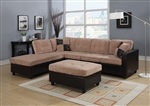 Milano Camel Champion / Espresso Bycast Left Facing Chaise Reversible Sectional by Acme - 51230-R